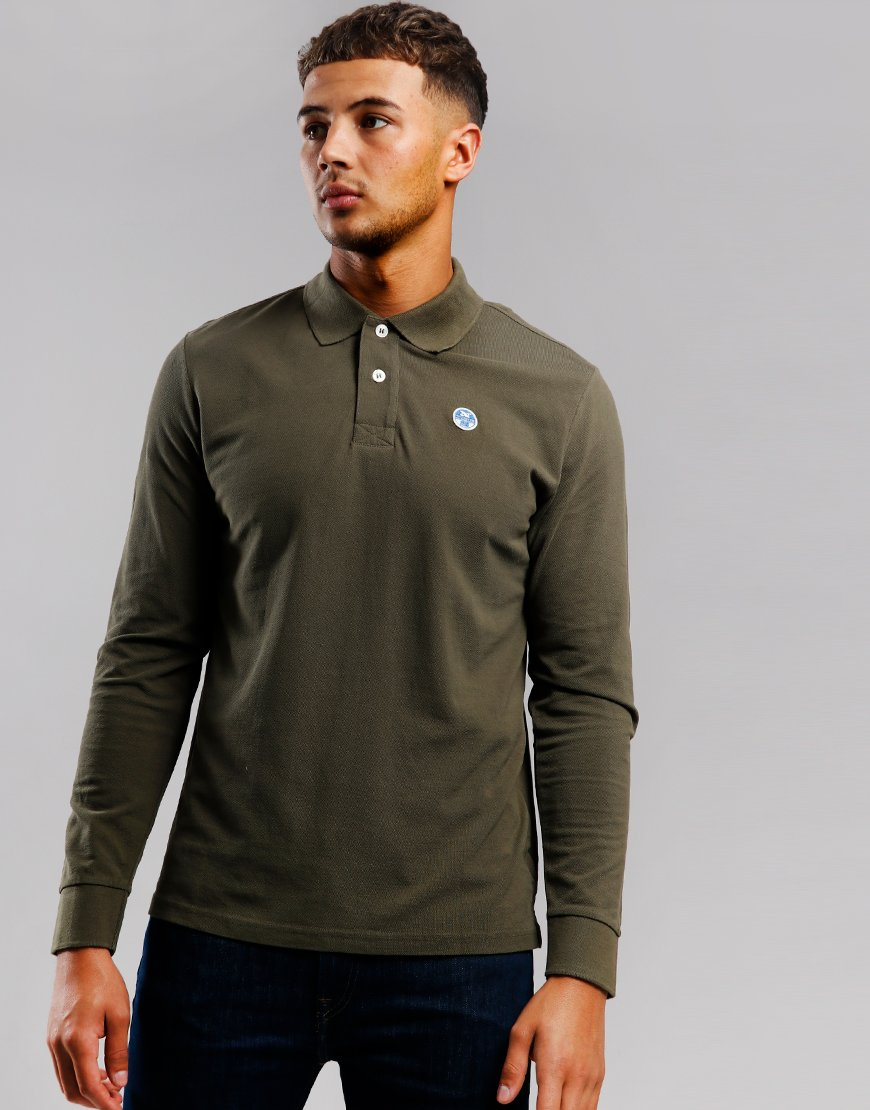 North Sails Long Sleeve Polo Shirt Grape Leaf