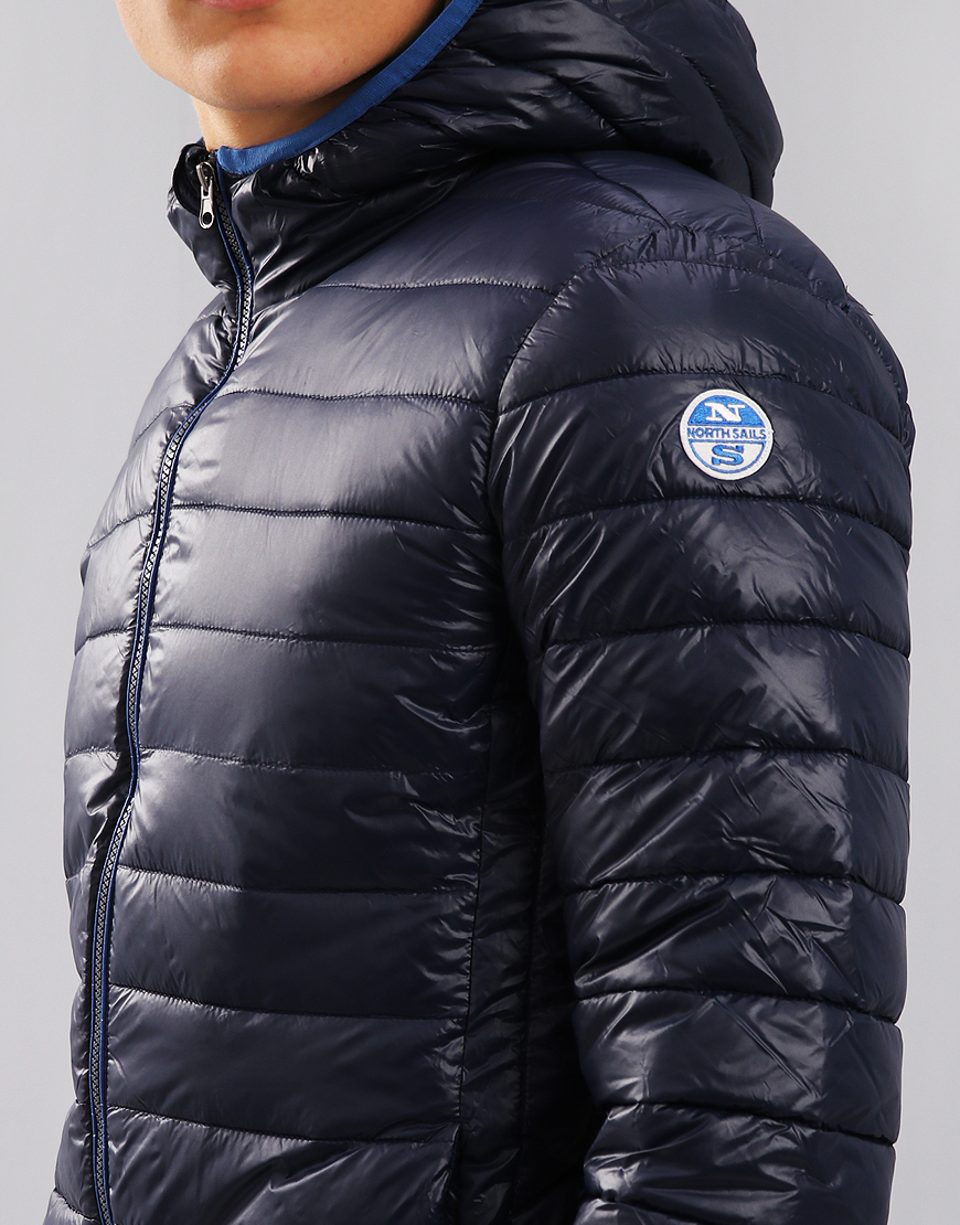 North Sails Super Light Hooded Down Padded Jacket Navy