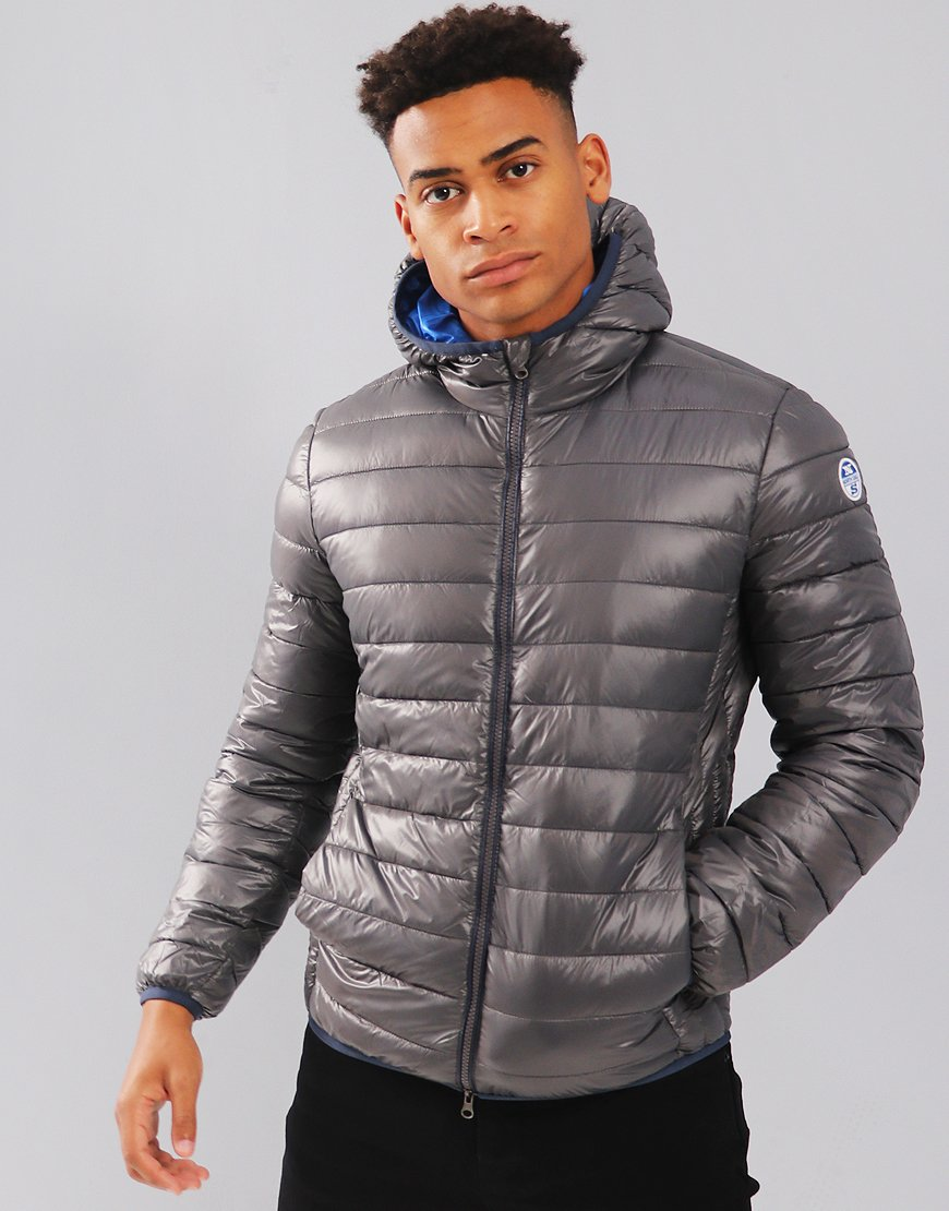 North Sails Super Light Hooded Puffer Jacket Lead