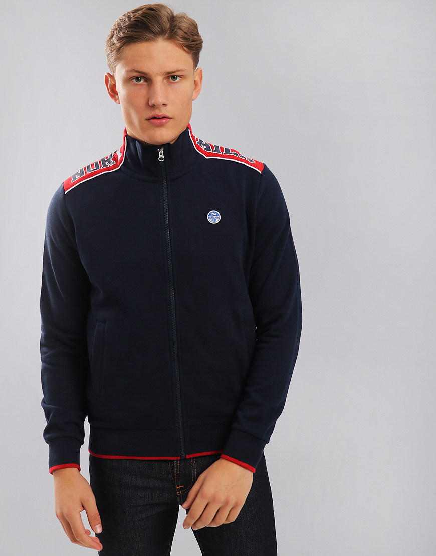 North Sails Funnel Neck Zip Sweat Navy