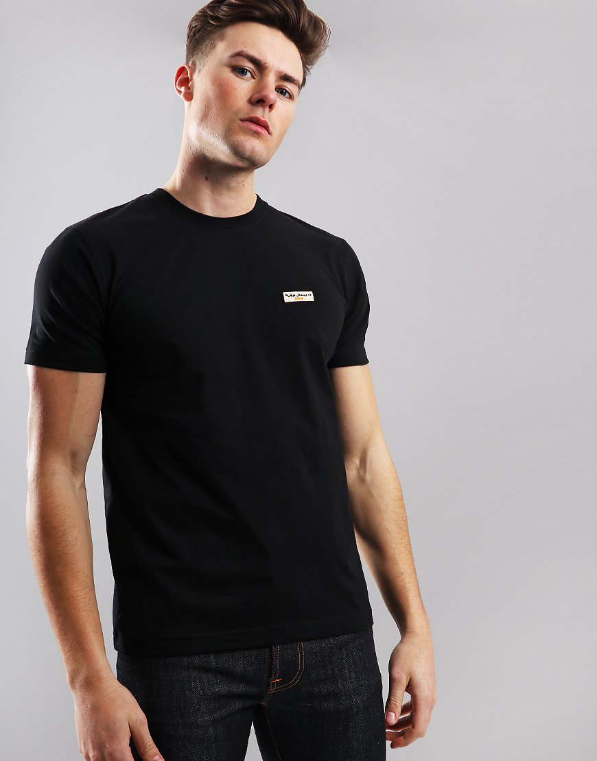 Nudie Daniel T-Shirt Black