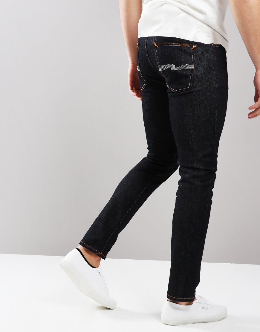 Nudie Lean Dean Slim Fit Jeans Tonal Ecru