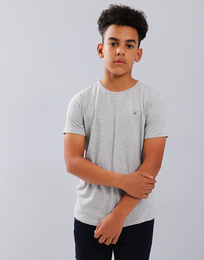 Gant Kids Original Shield T-Shirt Light Grey Melange