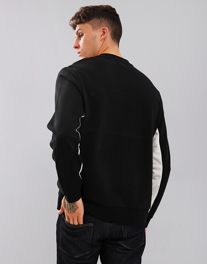Fred Perry Panel Piped Sweatshirt Black