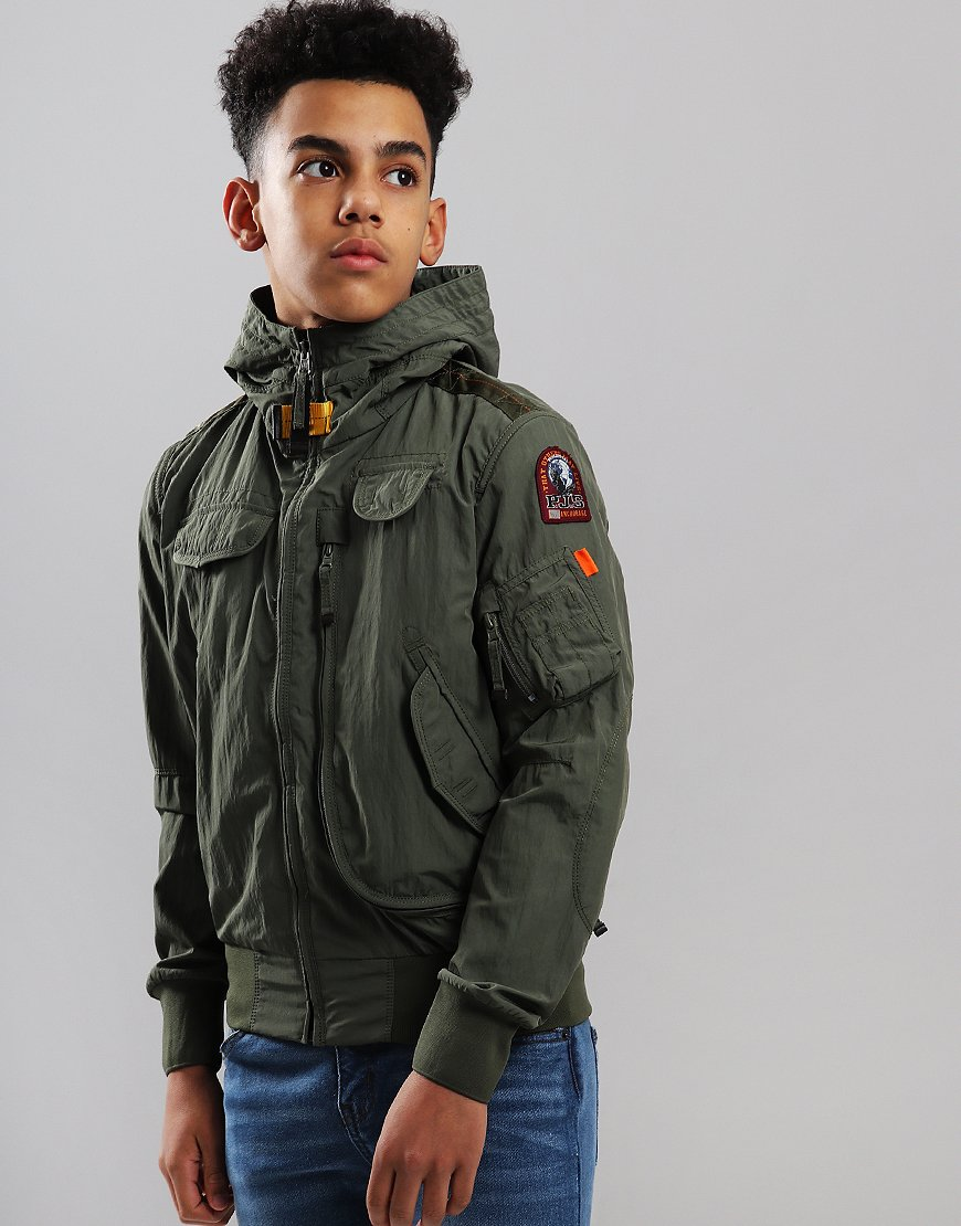 Parajumpers Kids Gobi Bomber Jacket Military Green