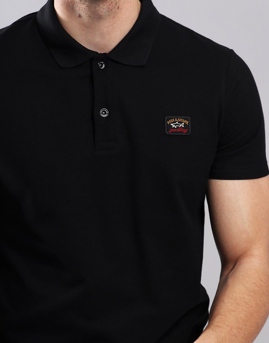 Paul & Shark Basic Polo Shirt Black