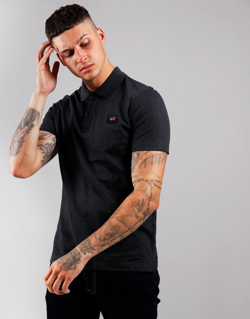 Paul & Shark Basic Polo Shirt Charcoal