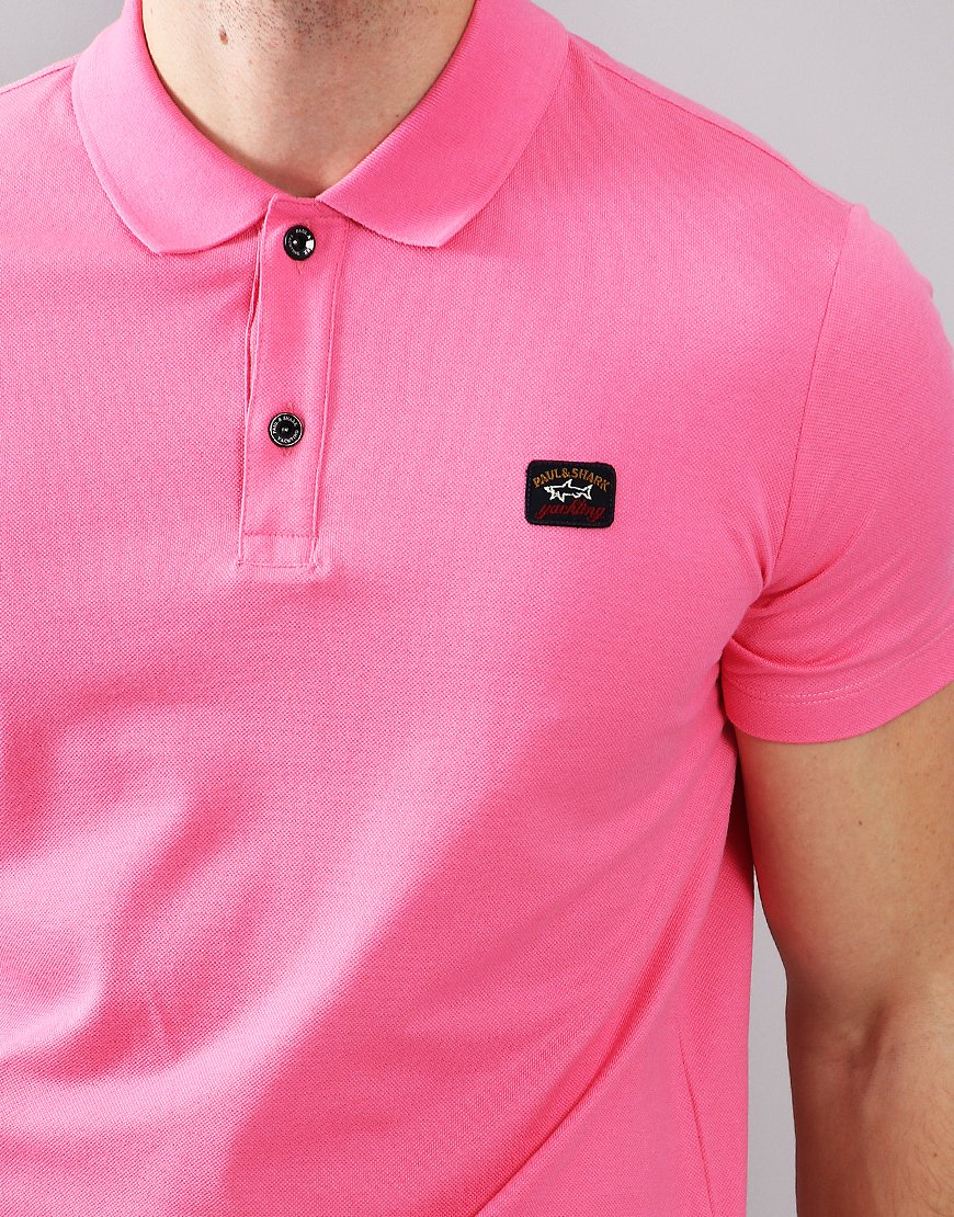 Paul & Shark Basic Polo Shirt Fuschia