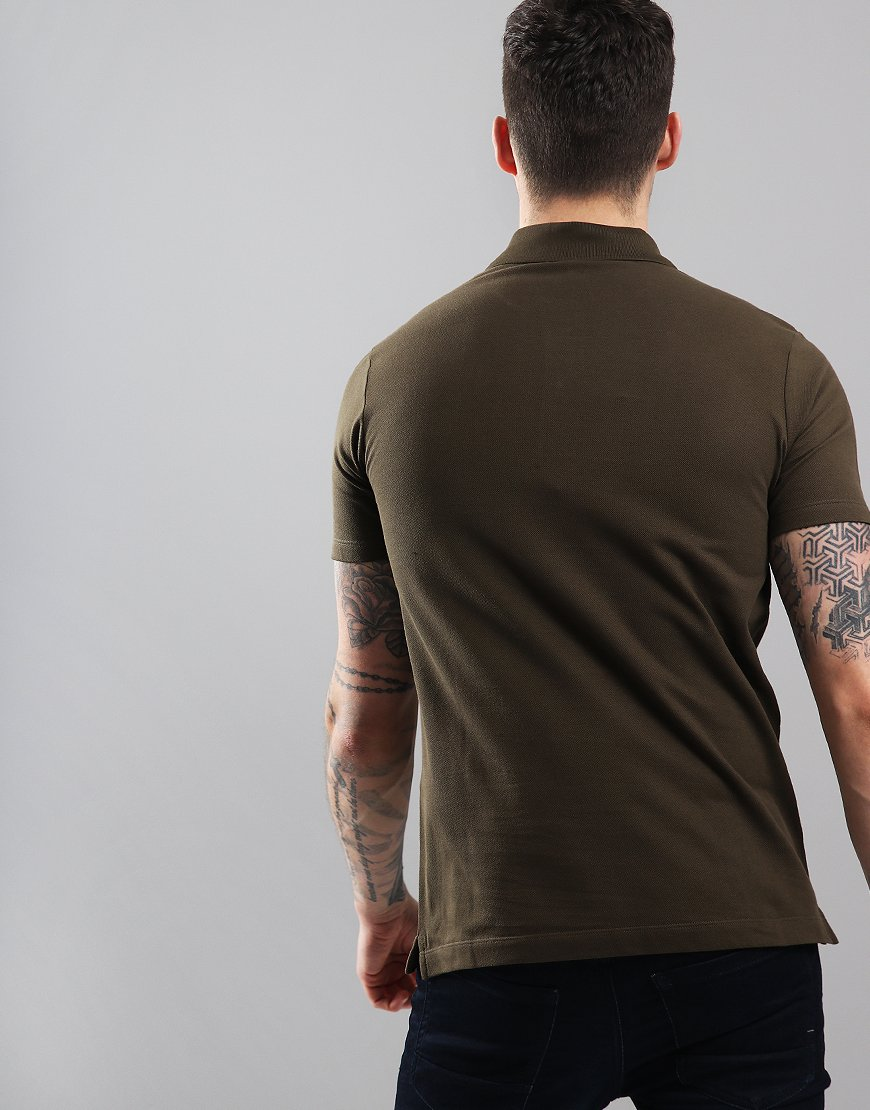 Paul & Shark Basic Polo Shirt Olive Green