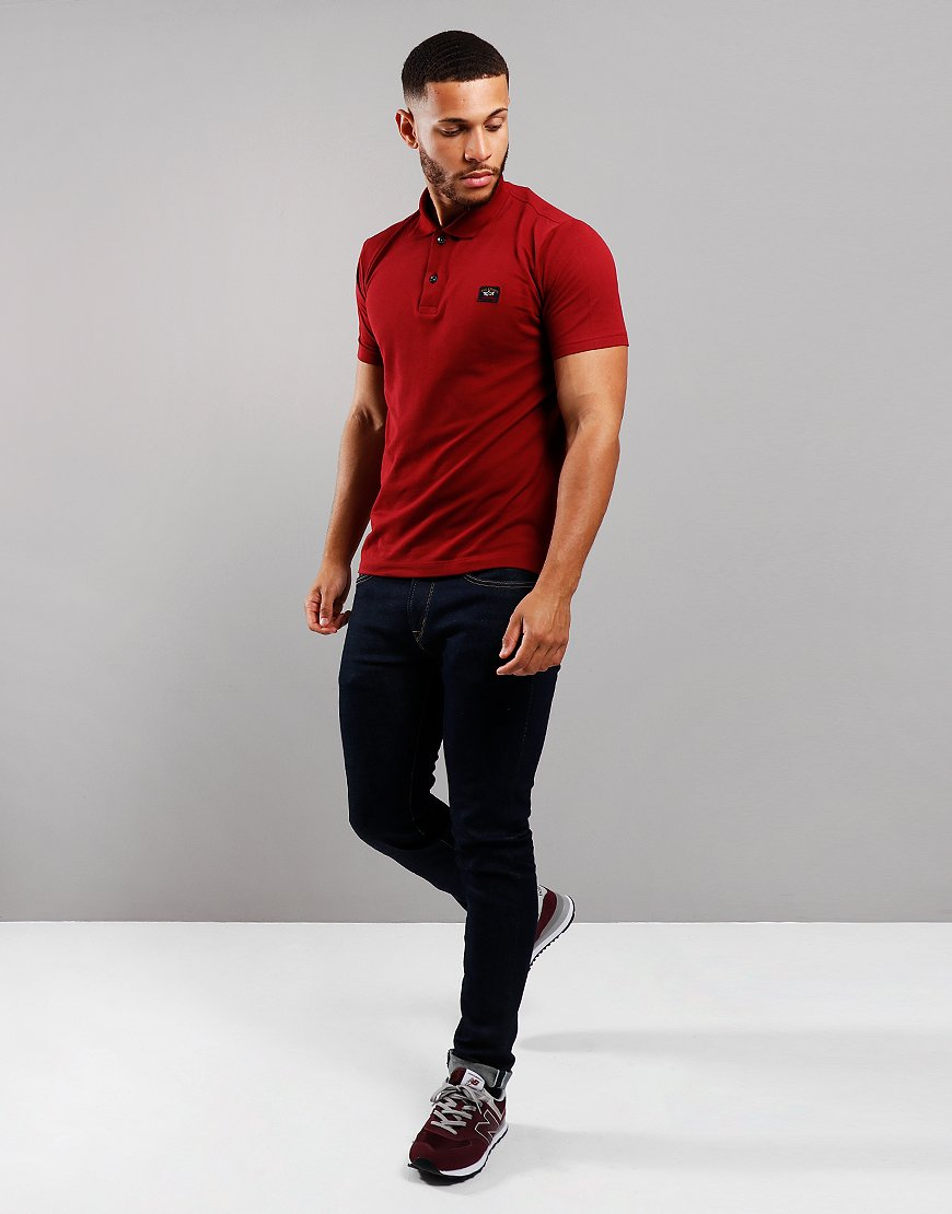 Paul & Shark Basic Polo Shirt Dark Wine