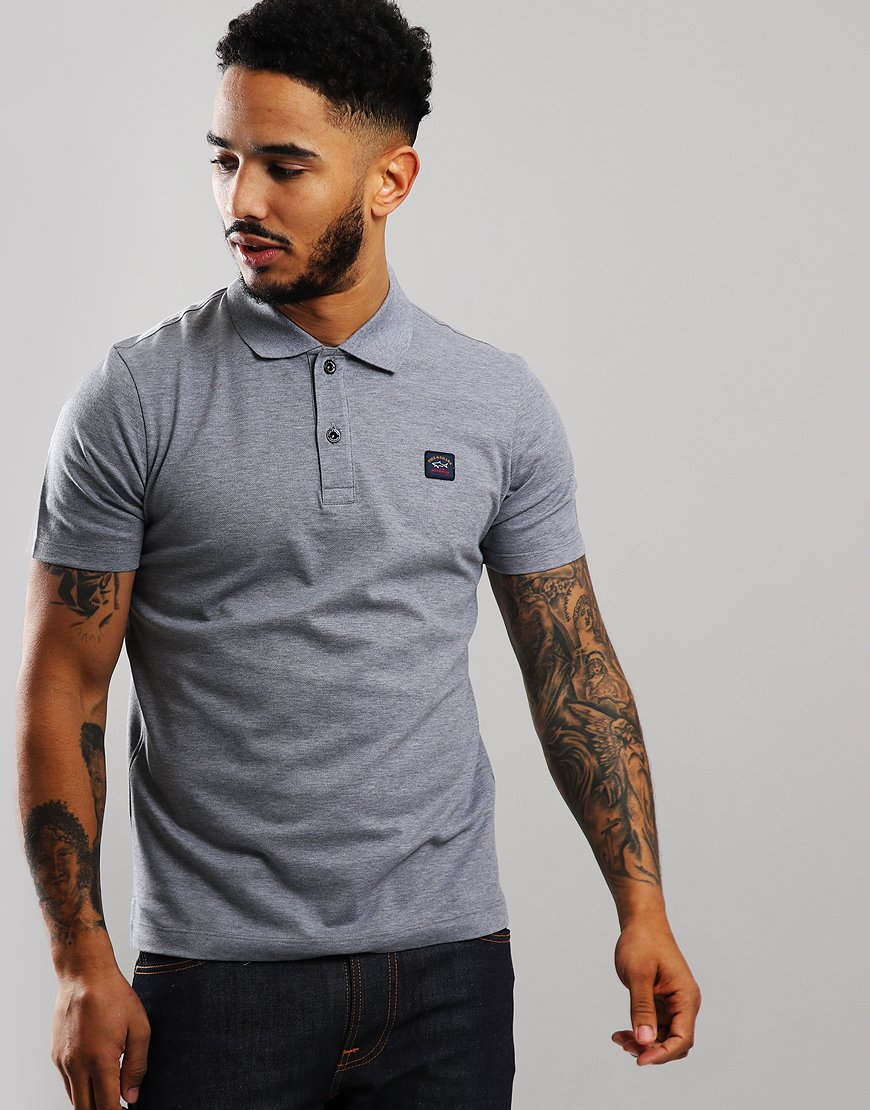 Paul & Shark Basic Polo Shirt Grey