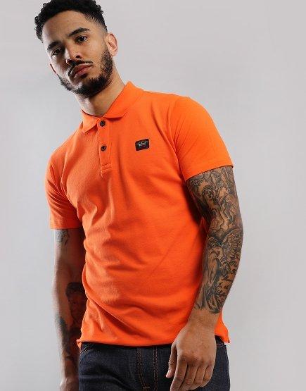 Paul & Shark Basic Polo Shirt Orange