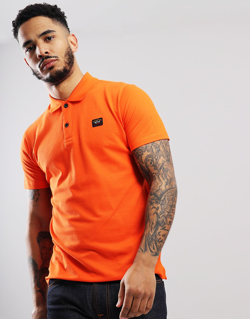 Paul & Shark Basic Polo Shirt Orange