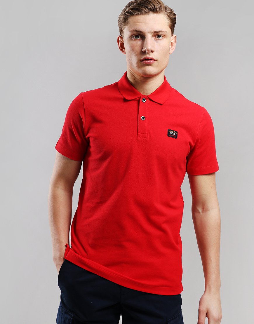 Paul & Shark Basic Polo Shirt Red