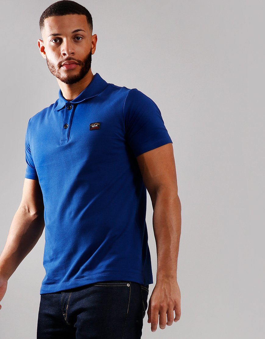 Paul & Shark Basic Polo Shirt Royal Blue