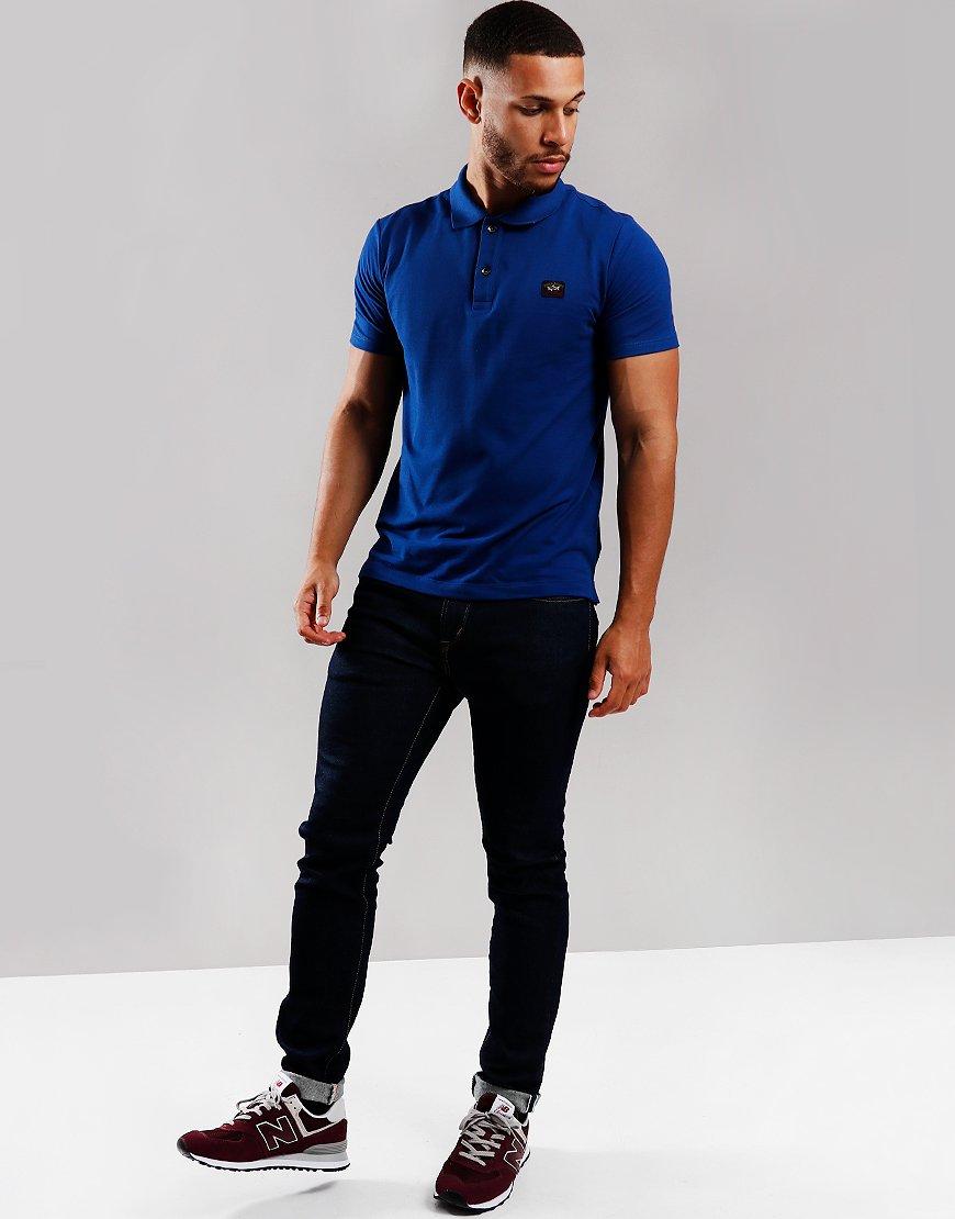 Paul & Shark Basic Polo Shirt Royal Blue