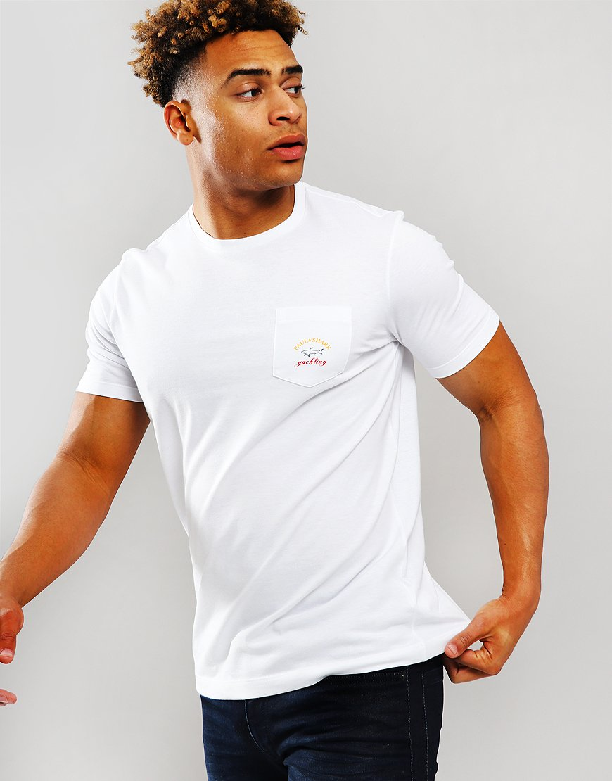 Paul & Shark Chest Pocket T-Shirt White