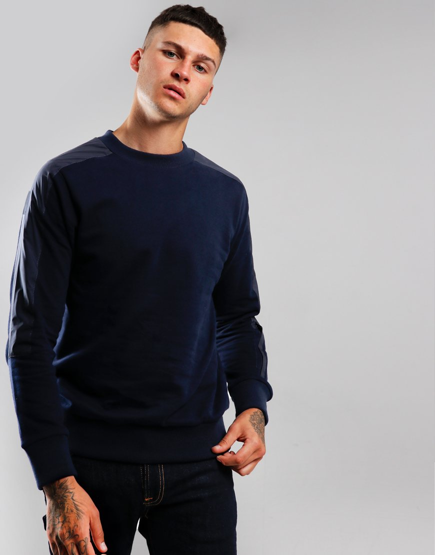 Paul & Shark Panelled Crew Neck Blue