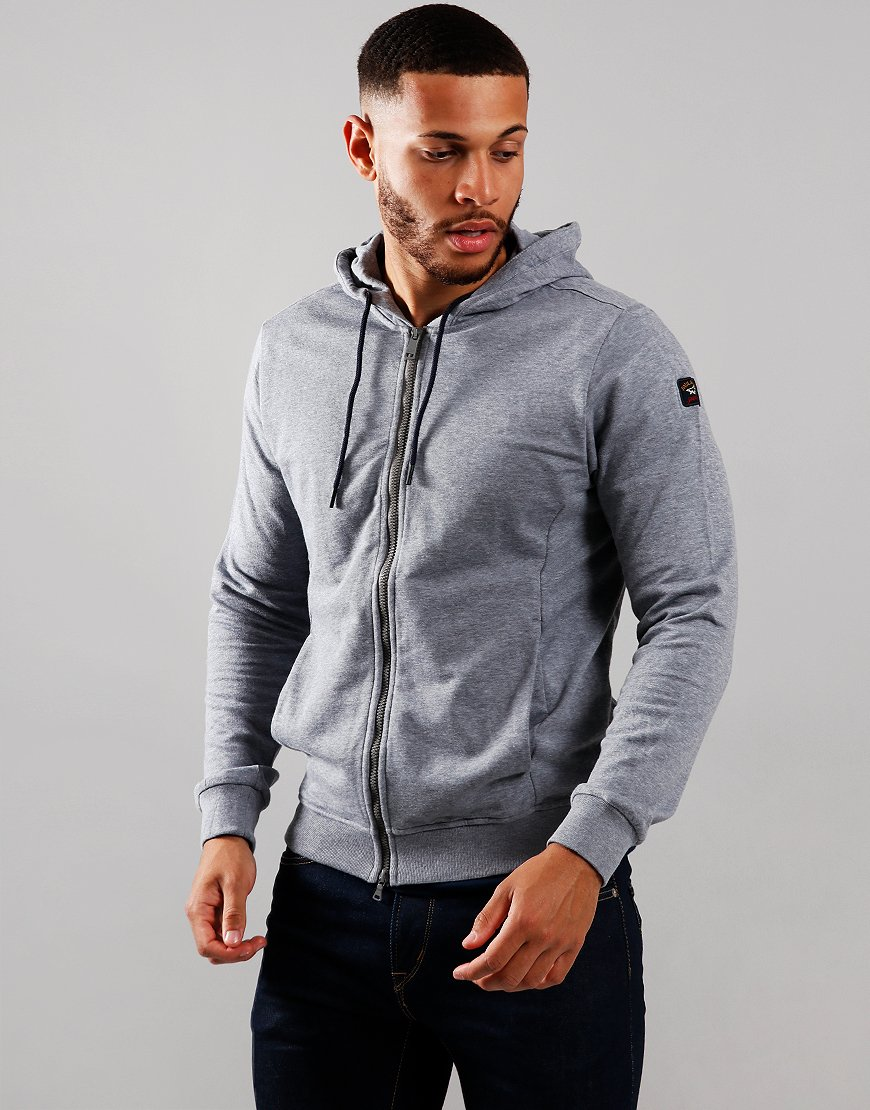 Paul & Shark Zip Hooded Sweat Grey