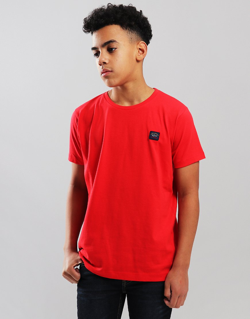Paul & Shark Cadets Small Patch T-Shirt Red