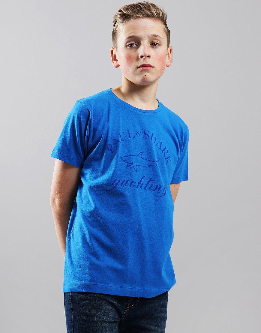 Paul & Shark Cadets Tonal Logo T-Shirt Cobalt Blue