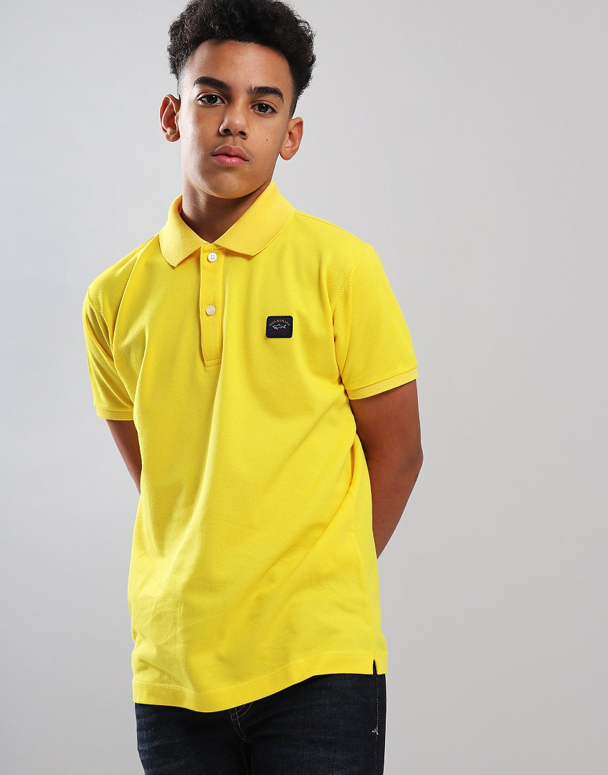 Paul & Shark Cadets Basic Polo Shirt Yellow
