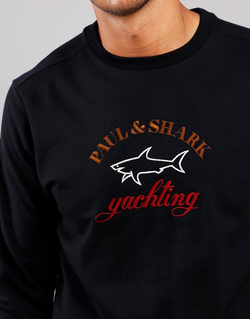 Paul & Shark Logo Crew Sweat Black