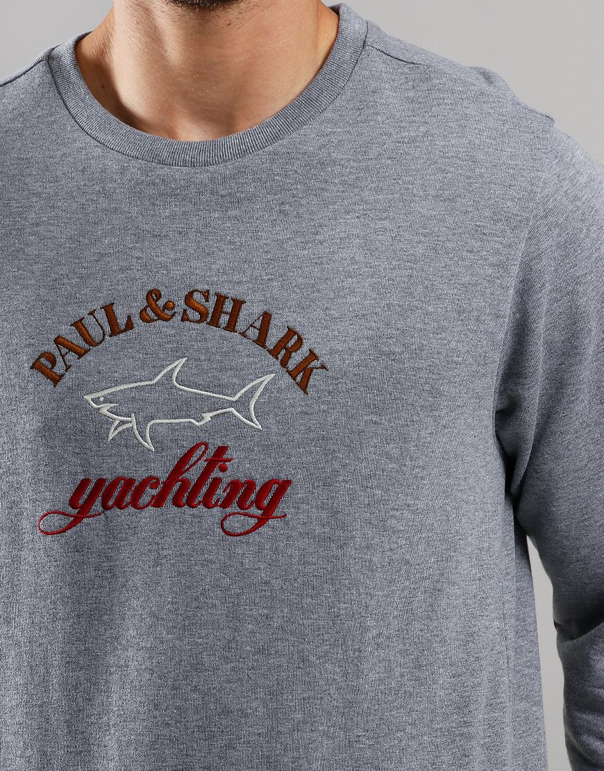 Paul & Shark Logo Crew Sweat Grey