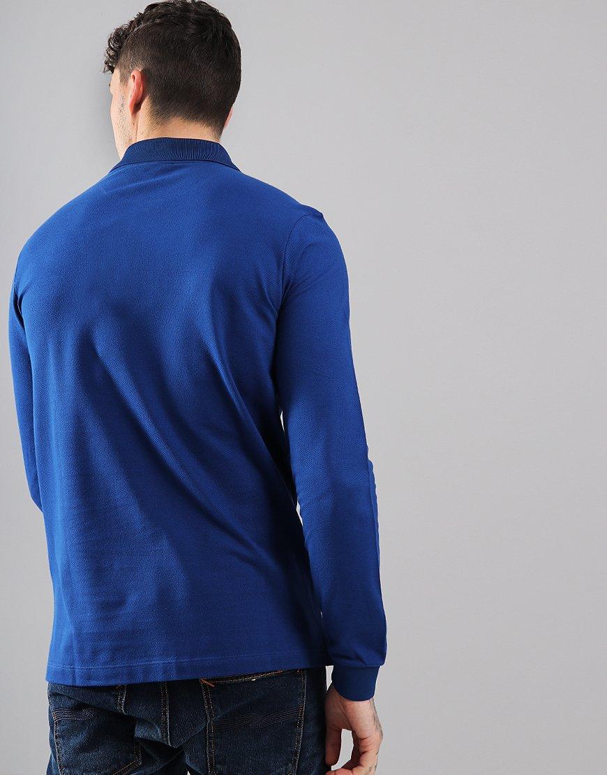 cb9189d8d ... italy paul shark long sleeved basic polo shirt royal blue terraces  menswear 7bf4f 9f3f0