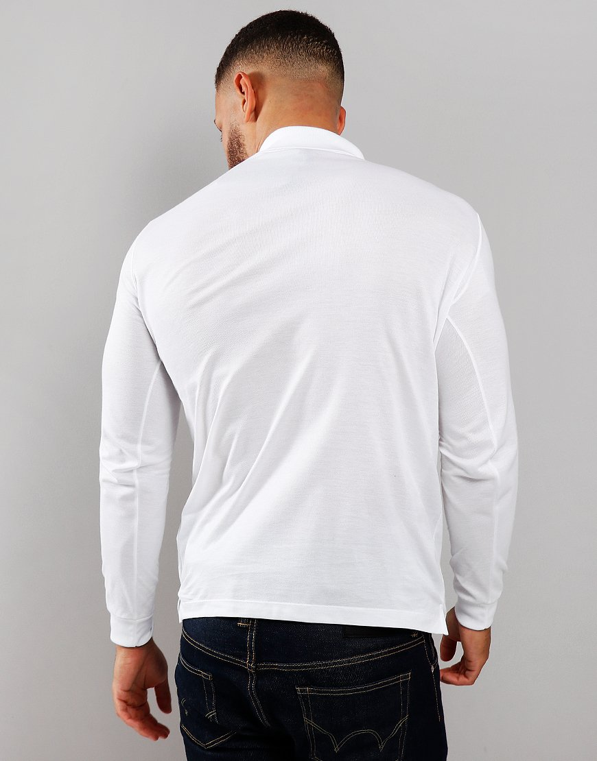 Paul & Shark Long Sleeved Basic Polo Shirt White