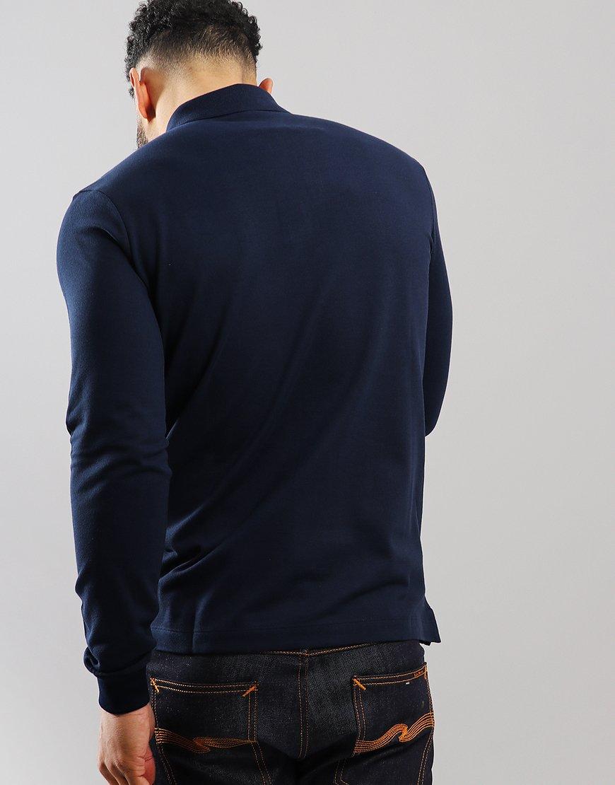 Paul & Shark Long Sleeved Basic Polo Shirt Blue