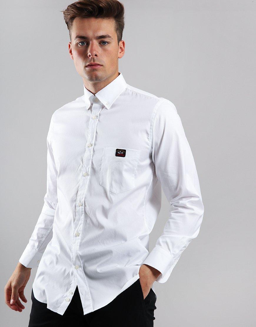 Paul & Shark Long Sleeve Woven Shirt White