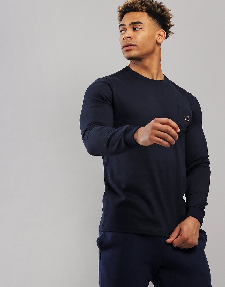 Paul & Shark Long Sleeve Chest Pocket T-Shirt Blue