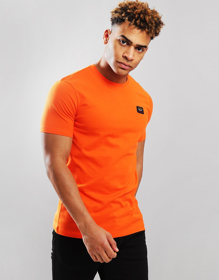 Paul & Shark Patch Logo T-Shirt Orange