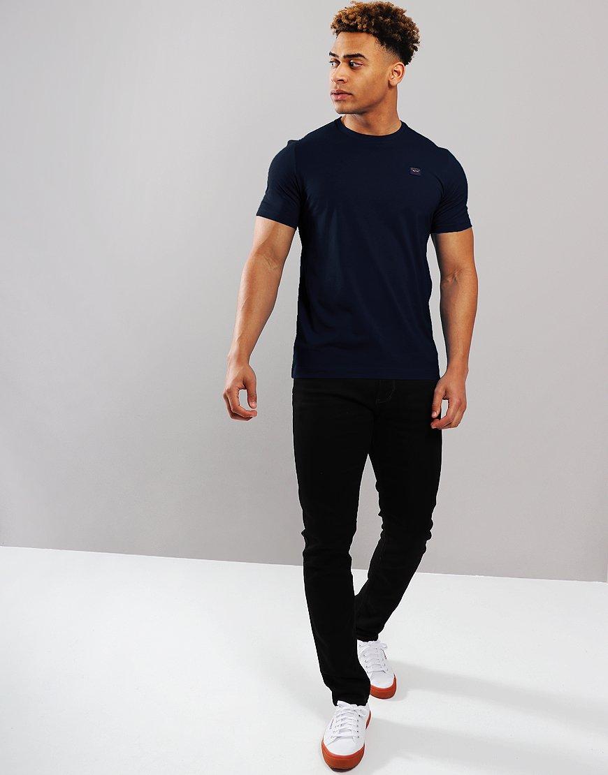 Paul & Shark Patch Logo T-Shirt Blue