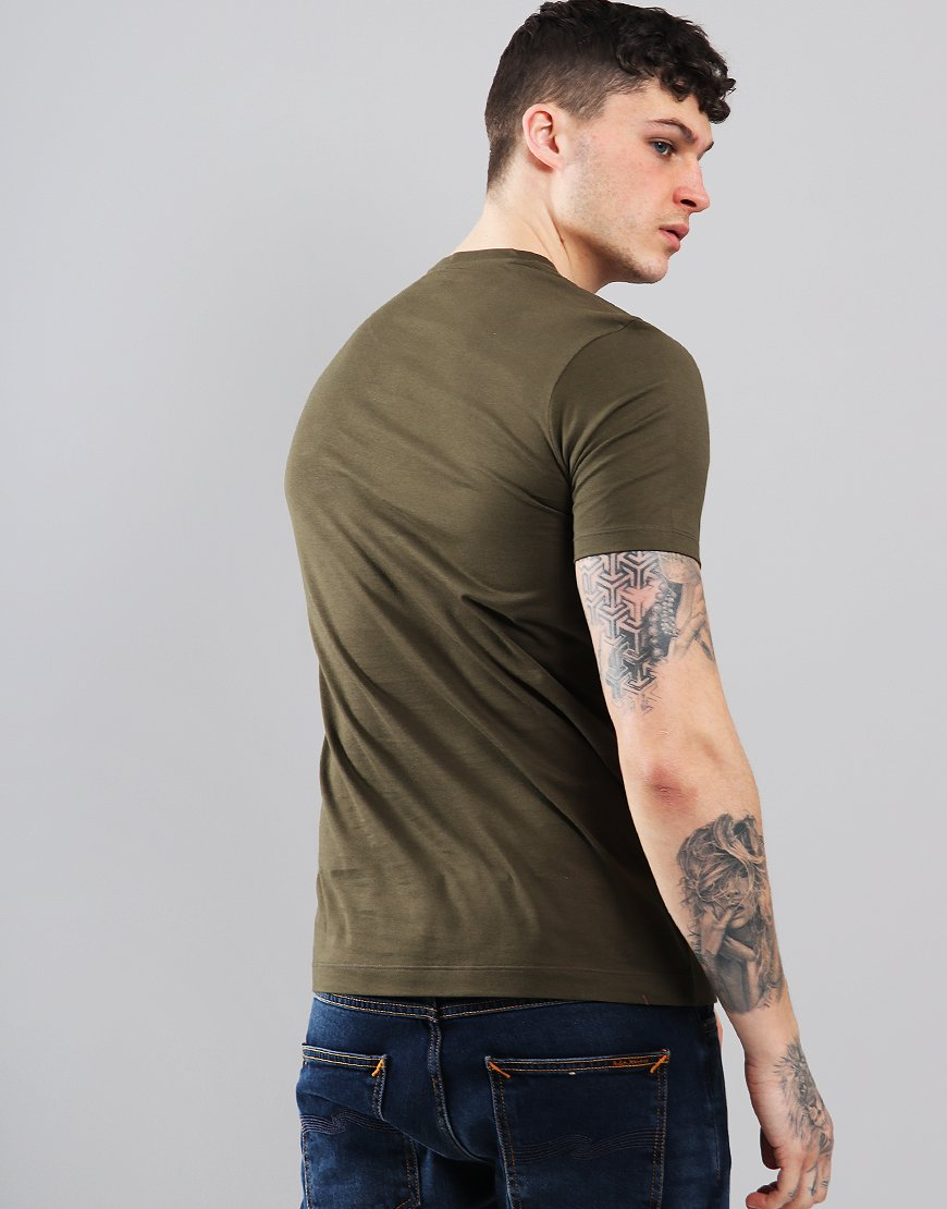 Paul & Shark Patch Logo T-Shirt Olive Green