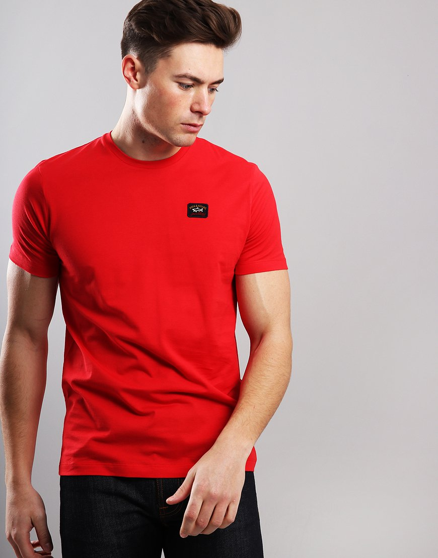 Paul & Shark Patch Logo T-Shirt Red