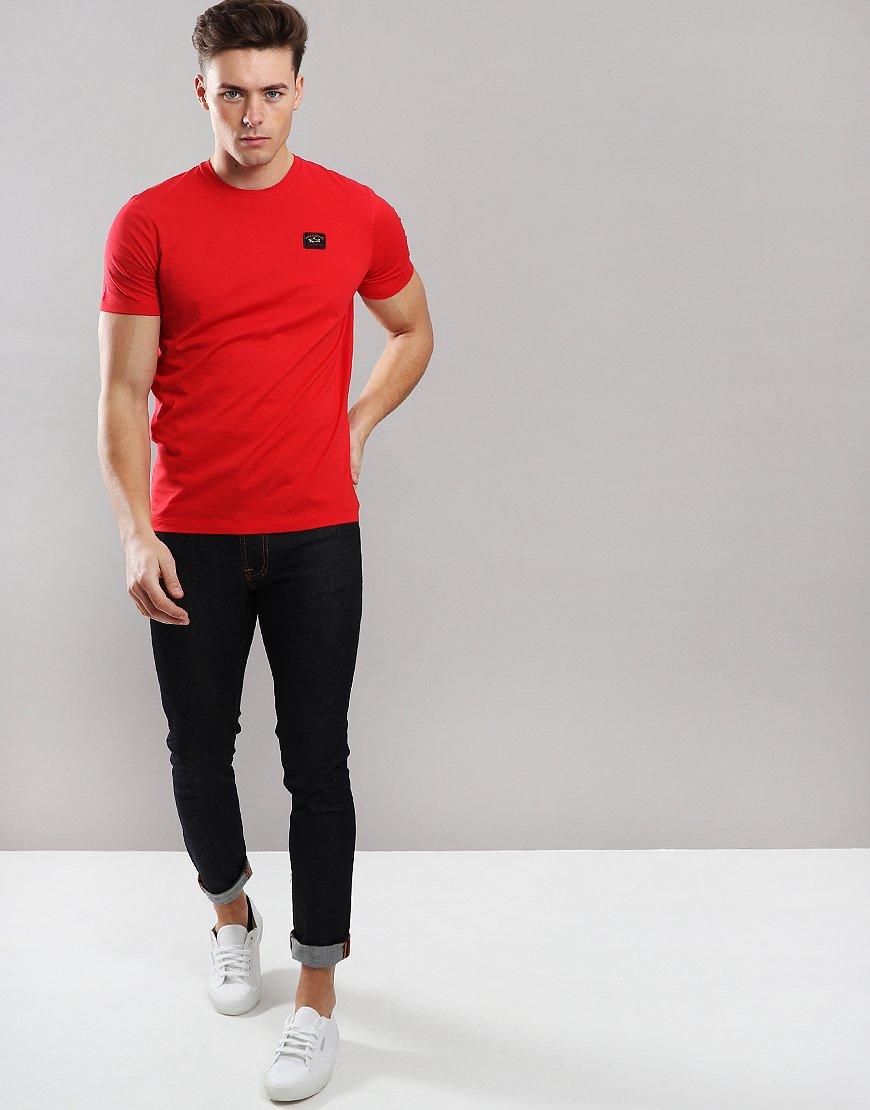 Paul & Shark Patch Logo T-Shirt Red