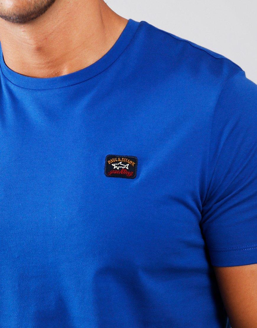 Paul & Shark Patch Logo T-Shirt Royal Blue