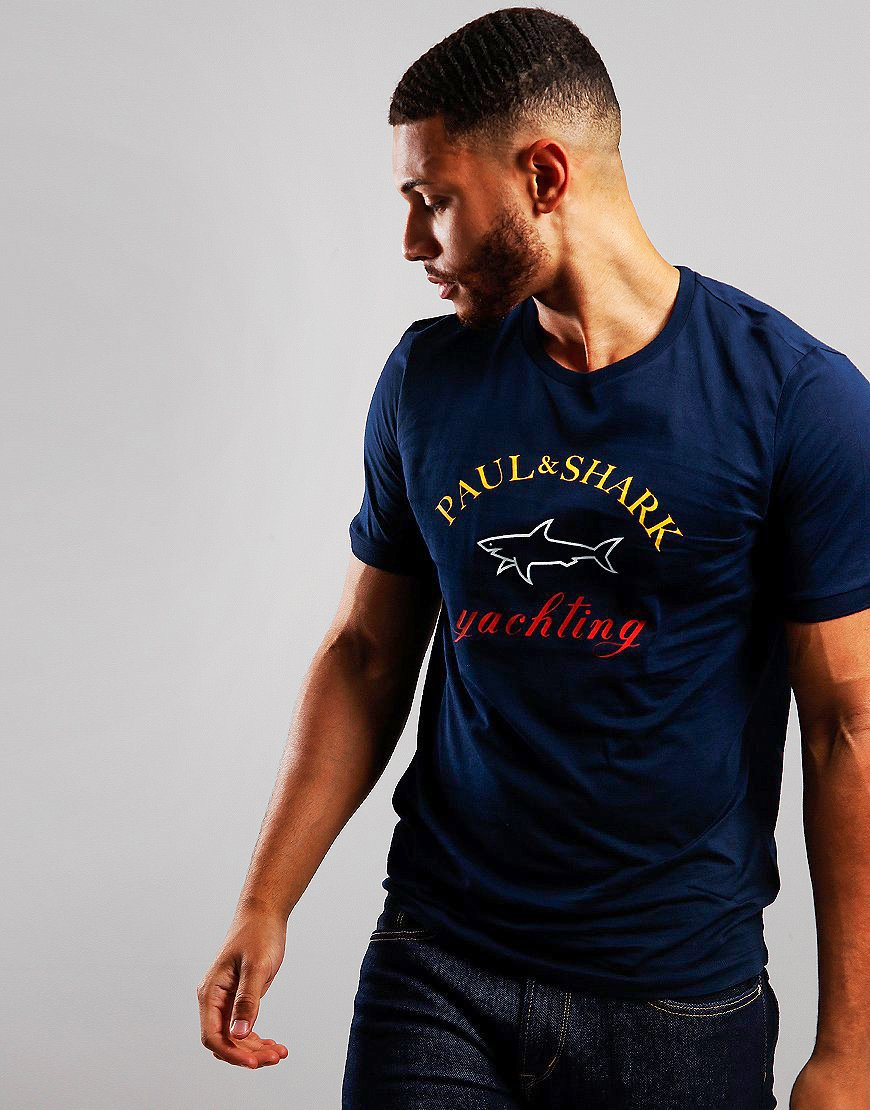 Paul & Shark Classic  Print T-shirt Navy