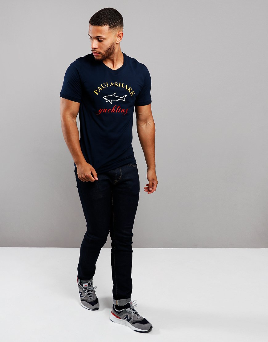 Paul & Shark Classic Print T-shirt Navy
