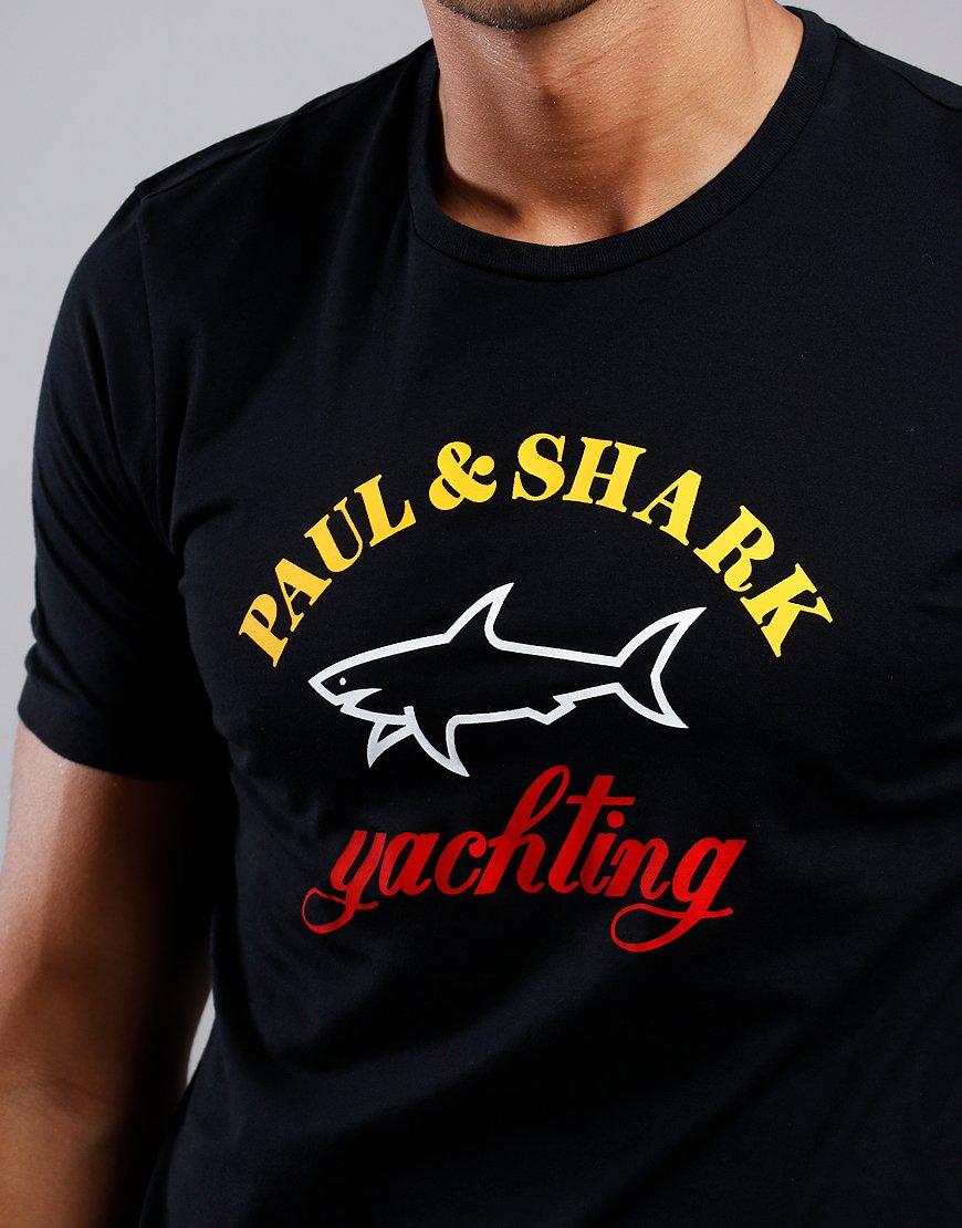 Paul & Shark Classic  Print T-shirt Black