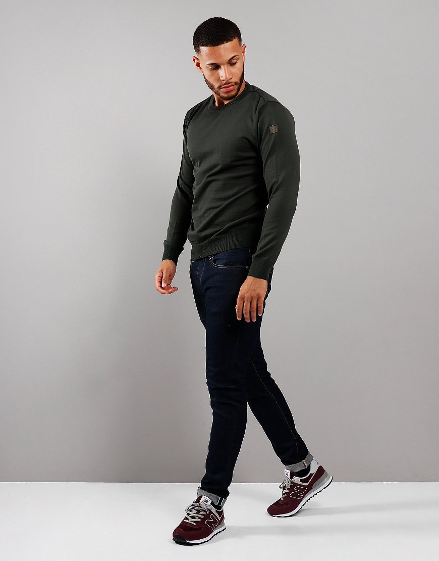 Paul & Shark Round Neck Knit Military Green