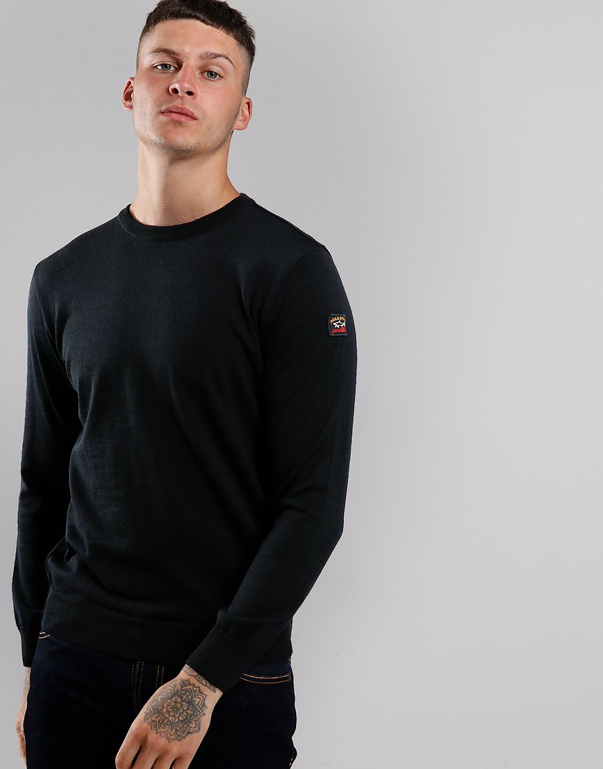 Paul & Shark Round Neck Knit Black