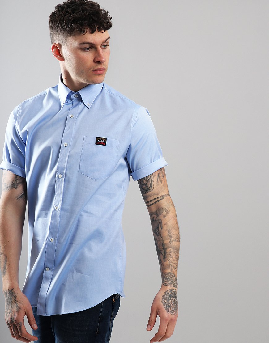 Paul & Shark Short Sleeve Woven Shirt Light Blue