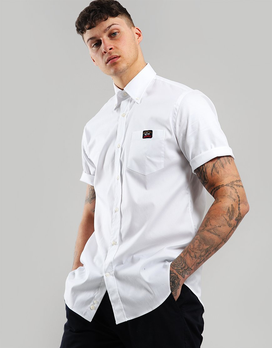 Paul & Shark Short Sleeve Woven Shirt White