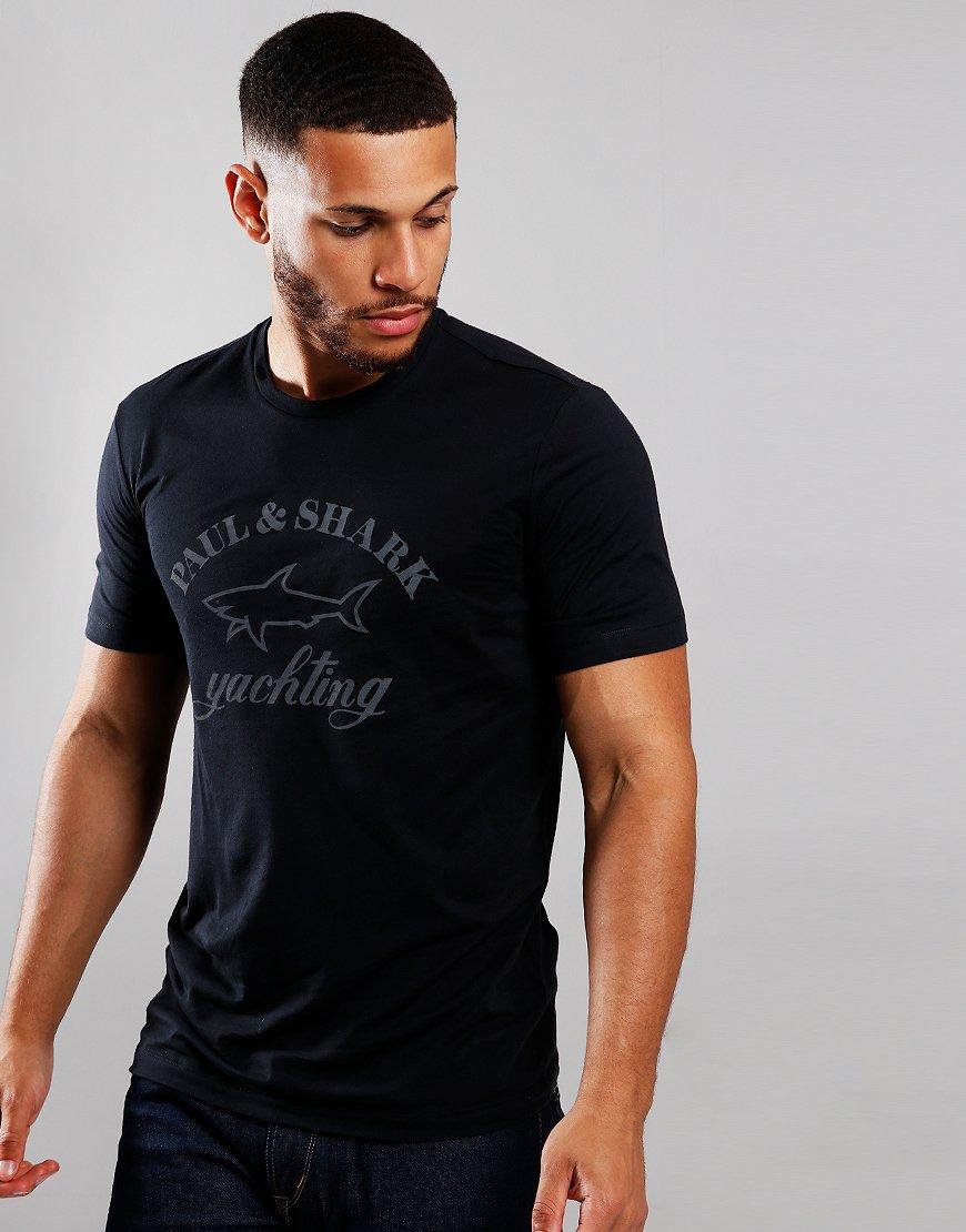 Paul & Shark Tonal Logo T-Shirt Black