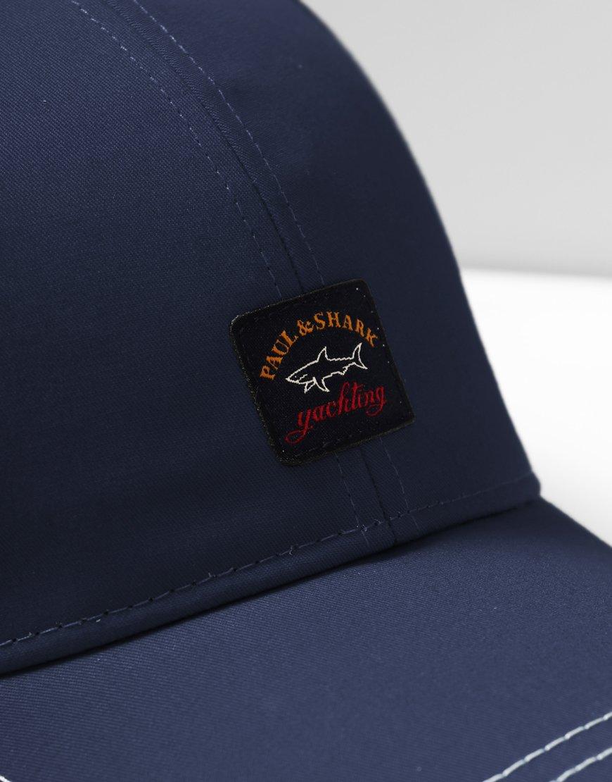 Paul & Shark Cadets Woven Logo Patch Cap Blue