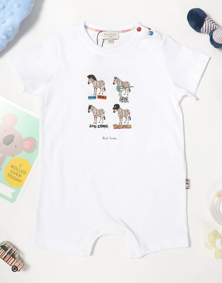 Paul Smith Baby Toro Romper White