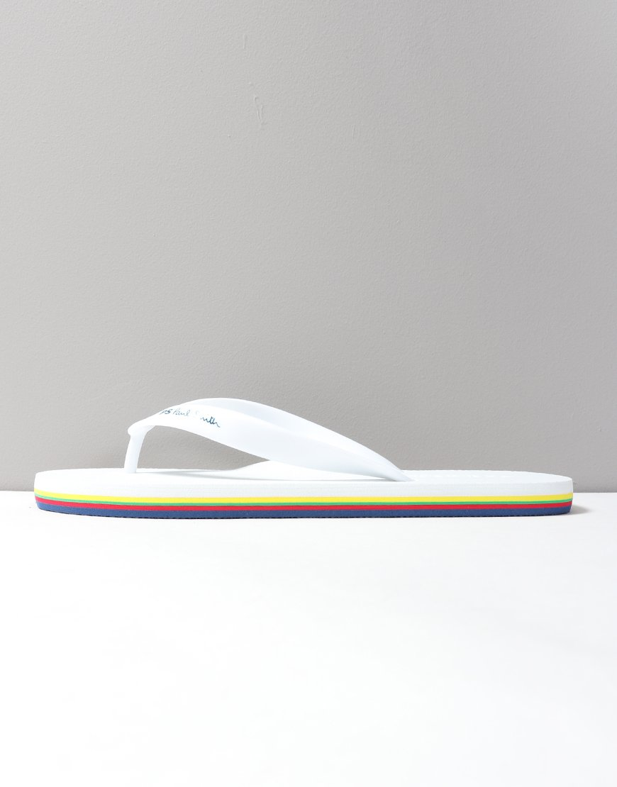 Paul Smith Dale Flip Flops White